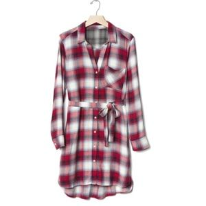 NWT Gap + Pendleton flannel long sleeve dress XS